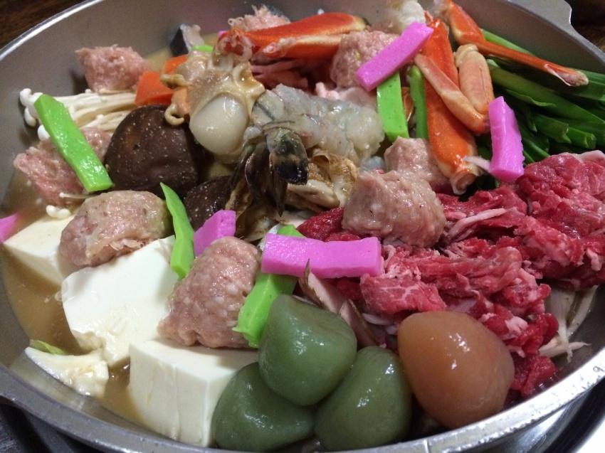 色鮮やかなちゃんこ鍋