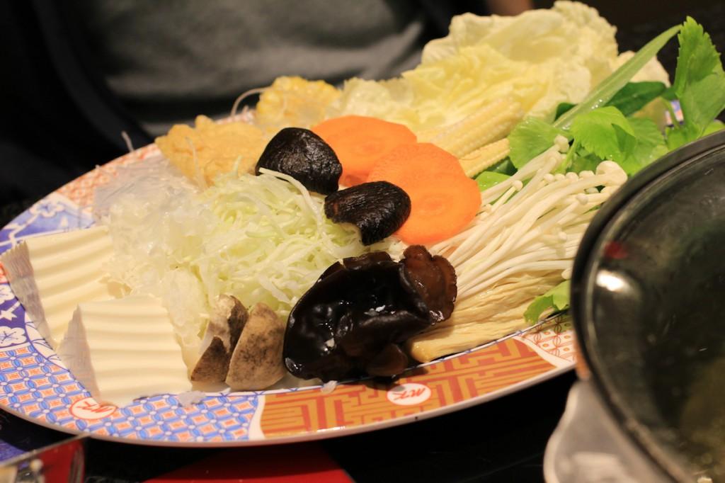 野菜盛り。野菜はたくさん摂らないとね。