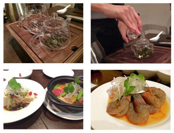 台湾式茶に各種小皿料理