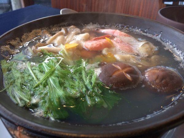 牡蠣と京豆腐の小鍋仕立て
