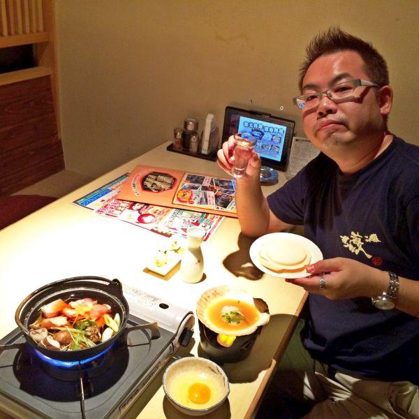 青森で、日本酒片手に一人、しっぽりと :-)