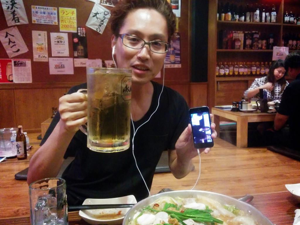 Skypeで乾杯!