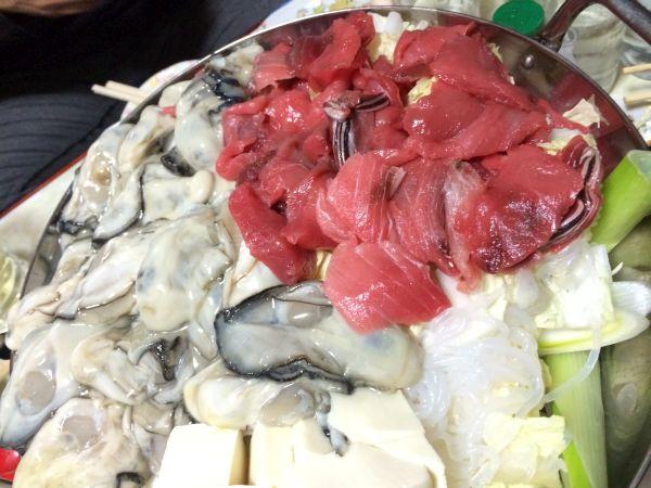 つづいて。牡蠣・鮪・葱。これまた旨い。