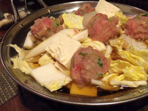 まぐろトロ入り自家製つくね自然薯とろろ鍋。