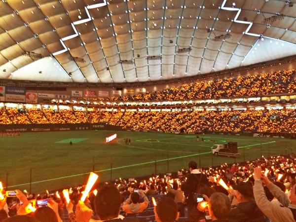 2015開幕戦、オレンジに燃えた東京ドーム!