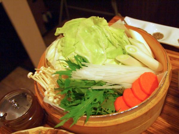 たっぷり野菜。