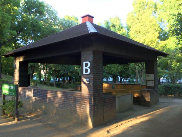 平和島公園キャンプ場。 今回はBスペースで。