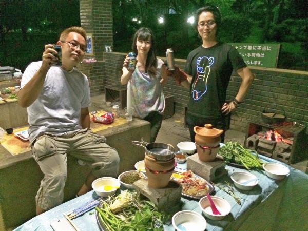 今回はメンバー3人+友人で鍋Q。楽しかった!
