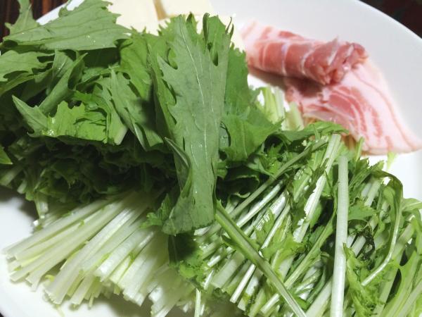 葉物野菜を中心に。