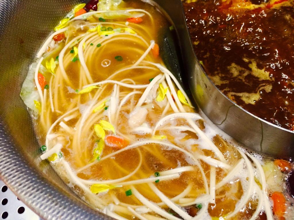 〆はレンコン麺