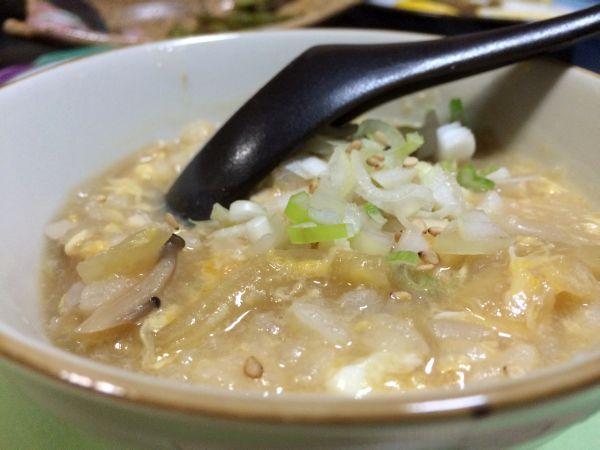 米どころ青森なので、〆は雑炊。