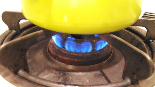 火は弱火で。