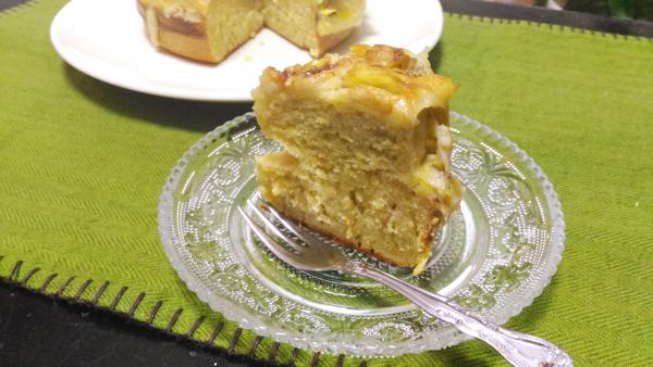 バナナべホットケーキの完成!