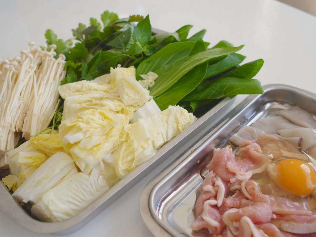 野菜たっぷりの具材