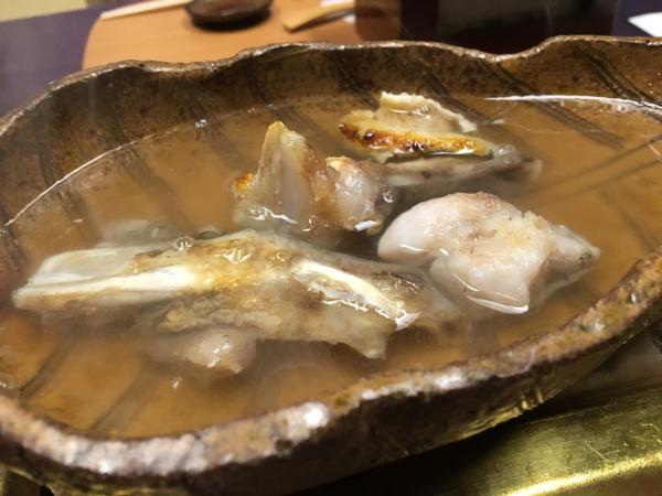 天然クエで取った出汁スープ。
