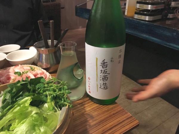 続いて香坂酒造の本醸造。 超辛口の原酒。