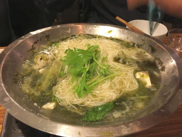 〆の素麺。