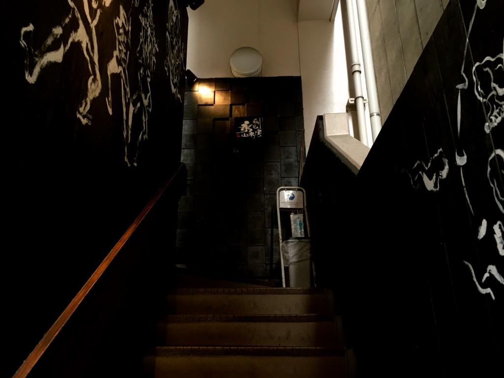 階段をのぼると......