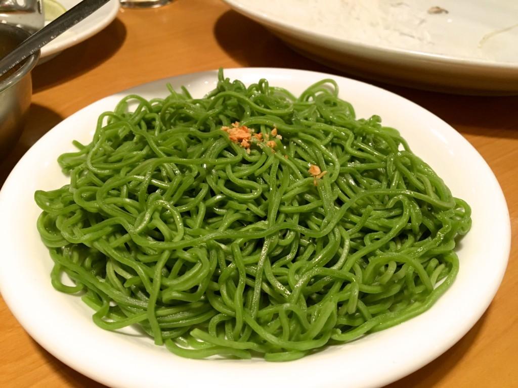 緑色の翡翠麺、バミーヨック