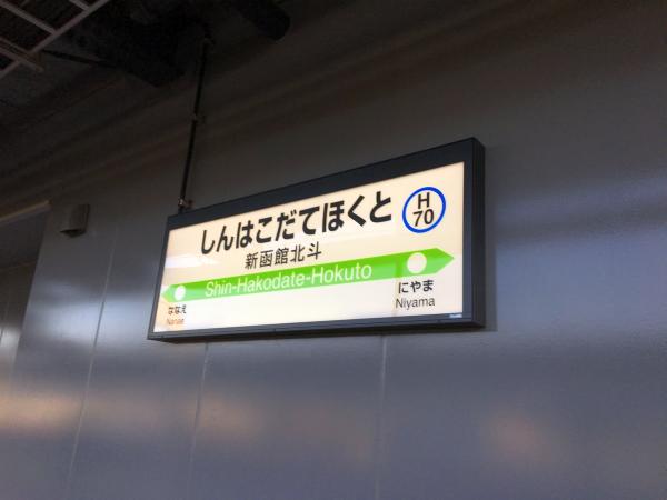 新函館北斗駅。