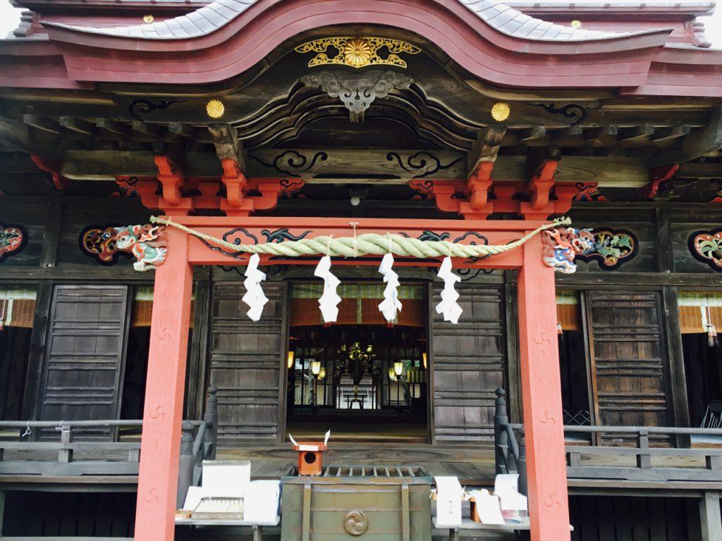 大洗磯前神社。国造りの神(大己貴命)が祀られています