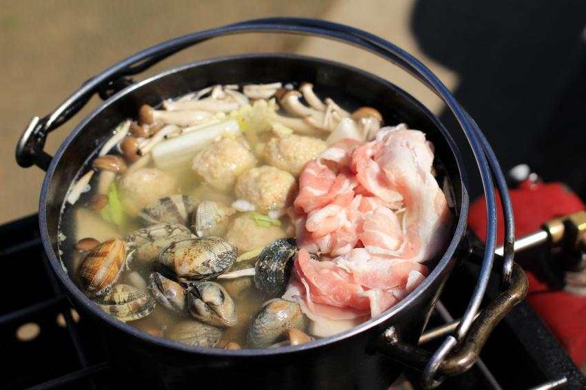 鍋Q特製「アサリ豚鍋」