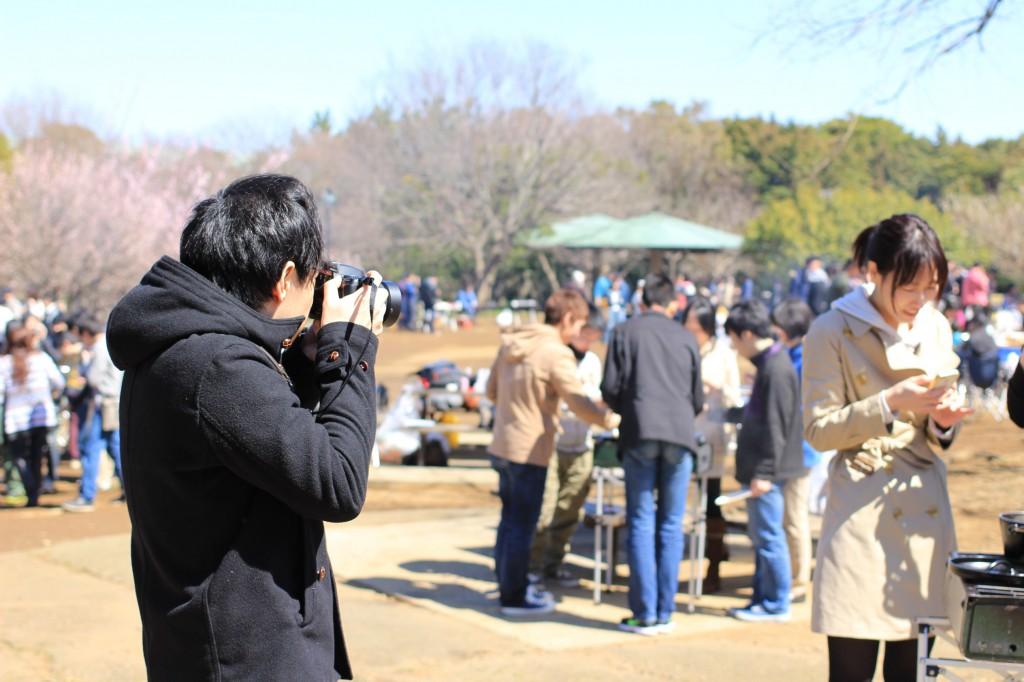 鍋の写真を撮る人を撮る人を撮ってみました