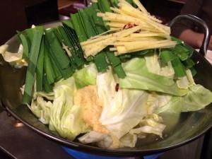 生姜もつ鍋