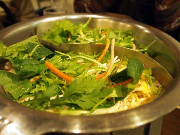 最後は葉野菜がびっしり