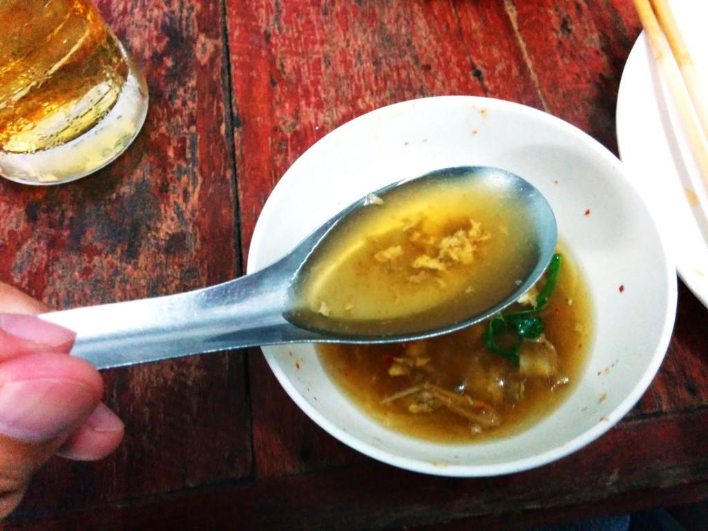 鍋の醍醐味。具材の味がしみ出したスープ