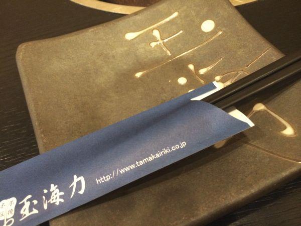 玉海力さんの皿と箸。