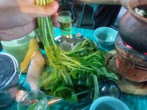 野菜はほぼそのままの状態で運ばれてくる