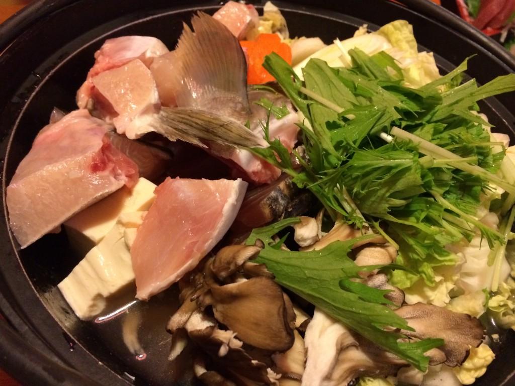 牡蠣鍋とはまたちがった見栄えがする海鮮鍋