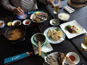 牡蠣の天ぷらなども頼み、結局はこんな感じ