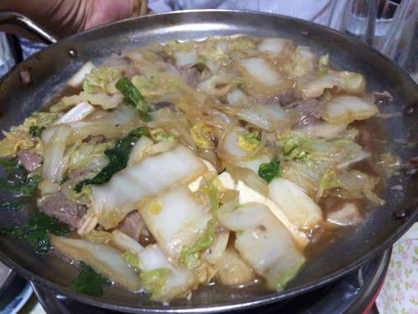 ねぎま鍋。煮えてきた。