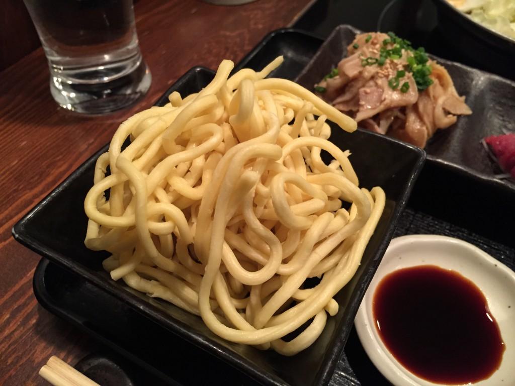〆用のちゃんぽん麺