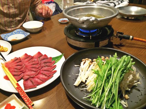 鰤に野菜に鍋。