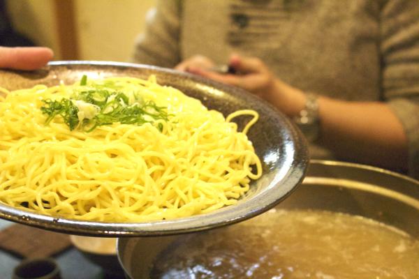 ちゃんぽん麺で〆ます。