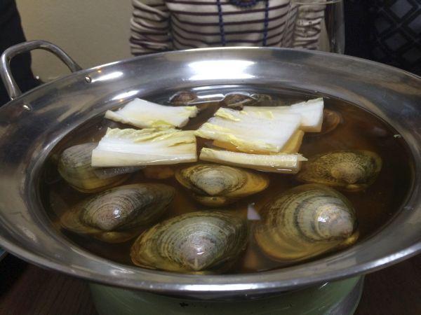 蛤に続いて白菜も。