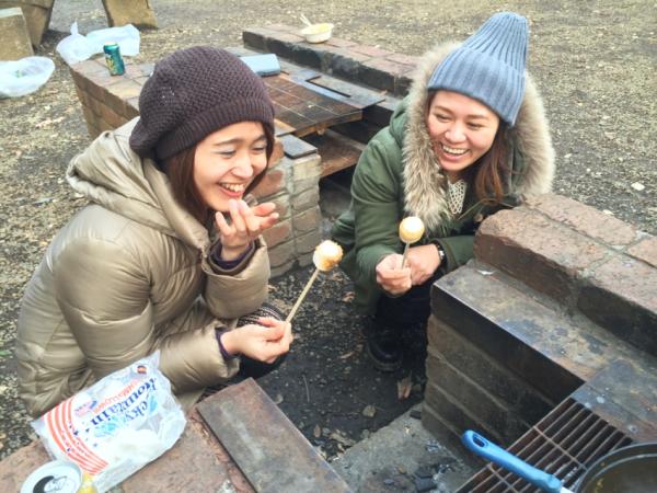 焼きマシュマロで箸休め。