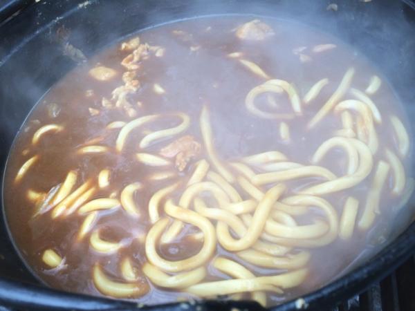 完成!山形風芋煮鍋だしでつくった和風カレーうどん! 懐かしい味で温まりました :-)
