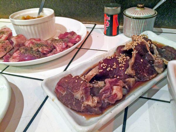 追加肉。ラムとマトン。
