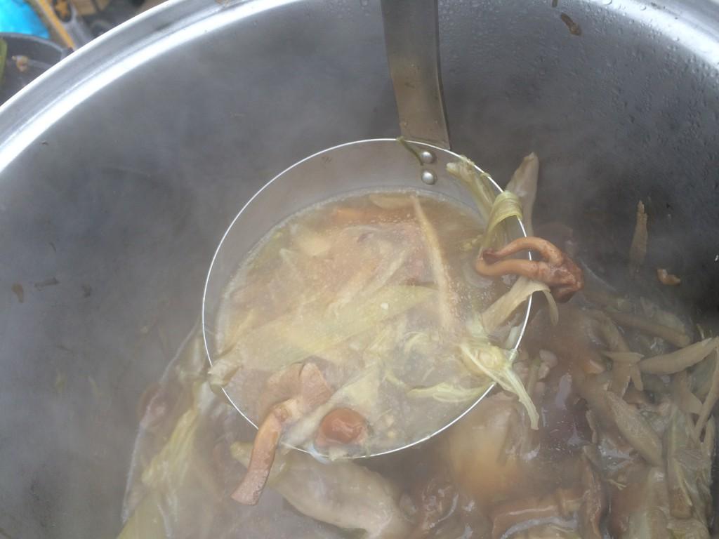今度は一転して日本的な山菜鍋