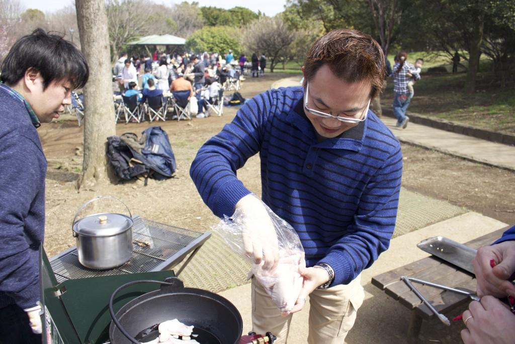 海鮮チゲをつくり始めます