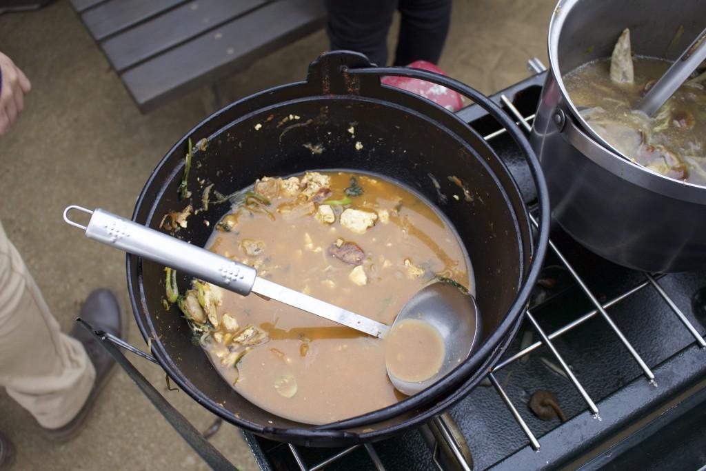 2つの鍋が空っぽに