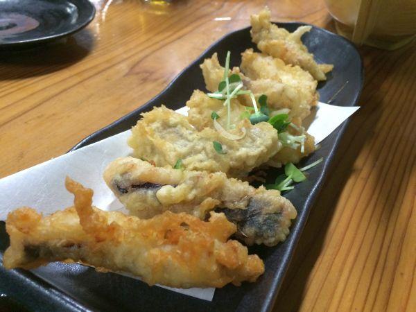 瀬戸内で獲れた旬のサワラの天ぷら。