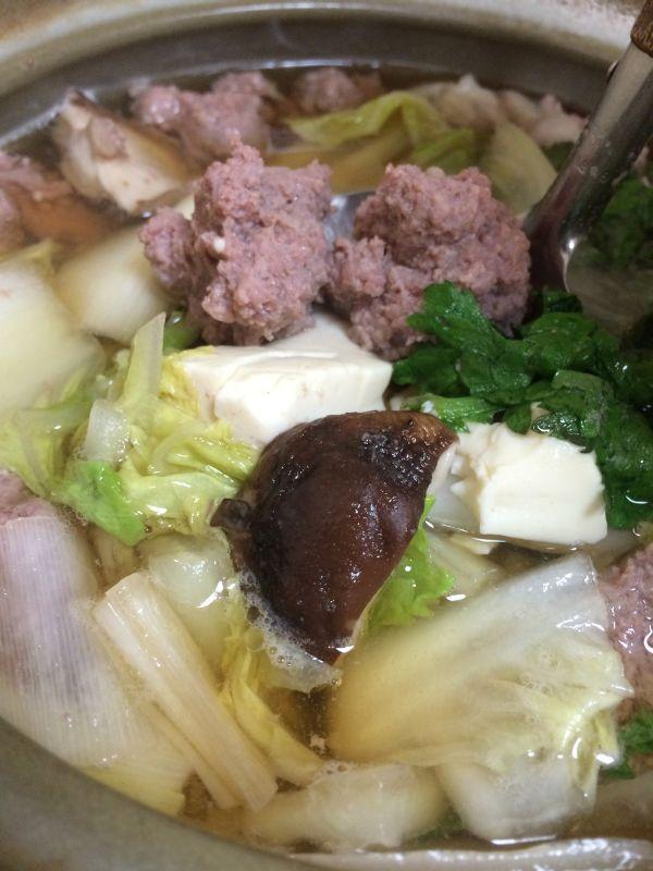 王道の鍋。美味そう!