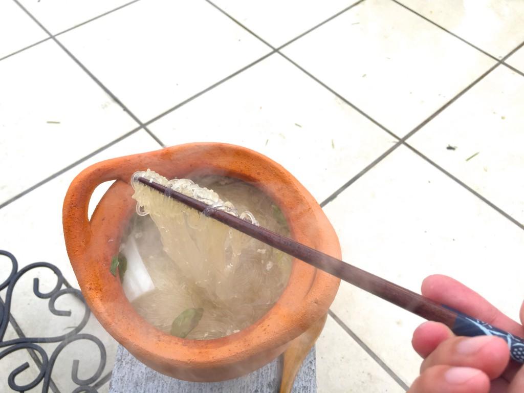 〆は春雨。スープが染みて美味しい!