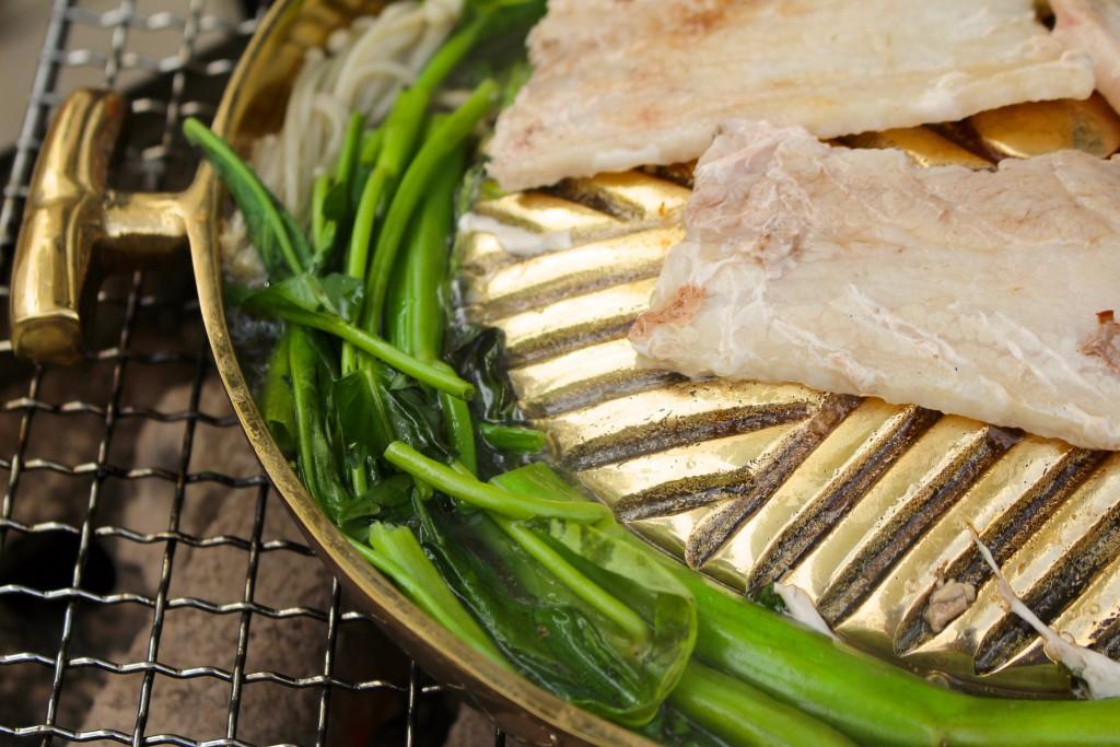 グツグツと煮える空心菜