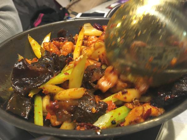 火を通して煮る……ではなく、炒めて焼く感じ。